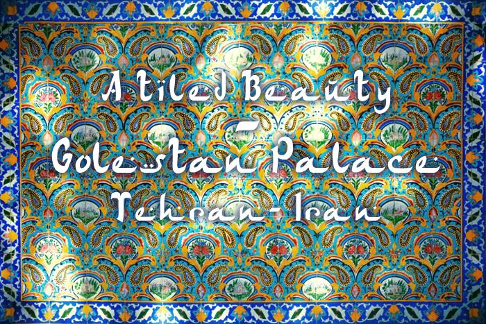 Ein Fliesenmuster im Golestan Palast in Teheran