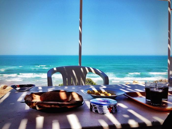 Das Frühstück am Meer in Marokko