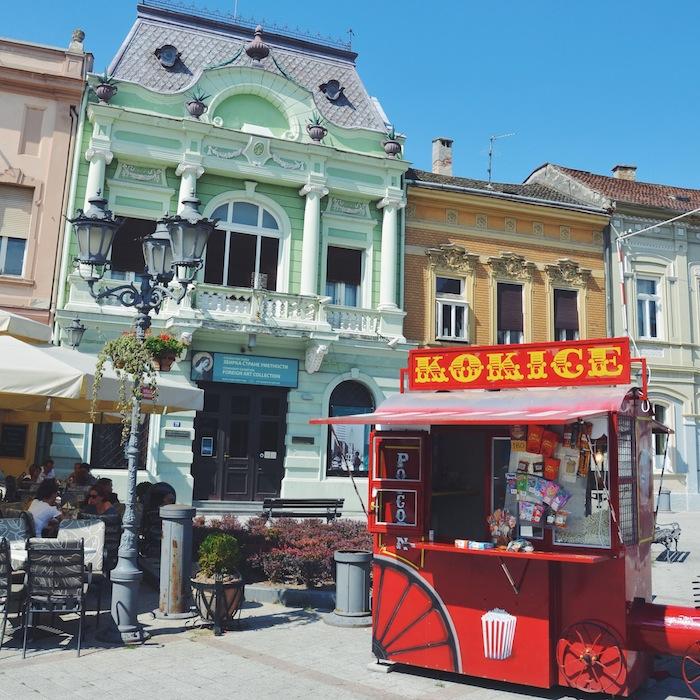Impressionen aus Novi Sad in Serbien, einem der Balkanländer