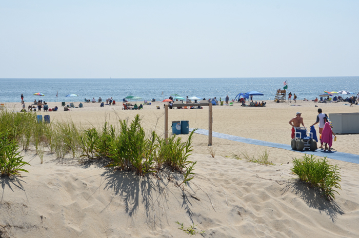 Der Strand von Ocean Grove am Jersey Shore