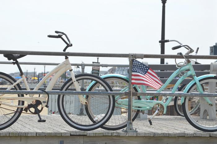 Fahrräder in Ocean Grove am Jersey Shore