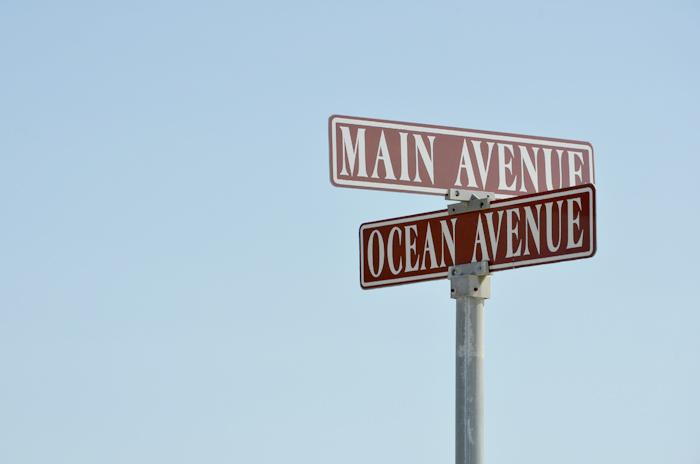 Ein Straßenschild in Ocean Grove am Jersey Shore