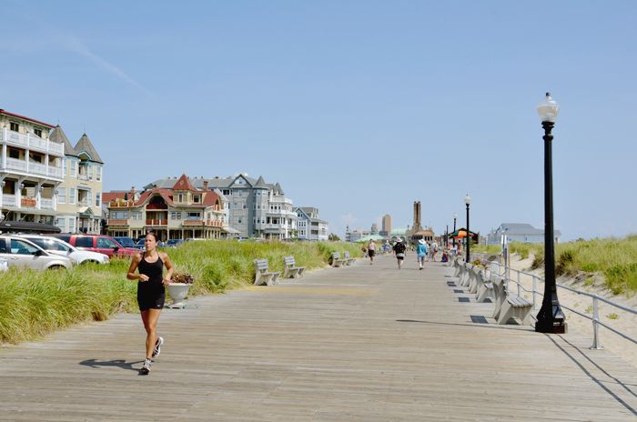 Die Strandpromenade in Ocean Grove am Jersey Shore