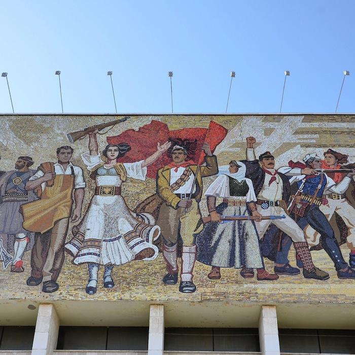 Das berühmte Mosaik in Albanien, einem der Balkanländer im Balkan