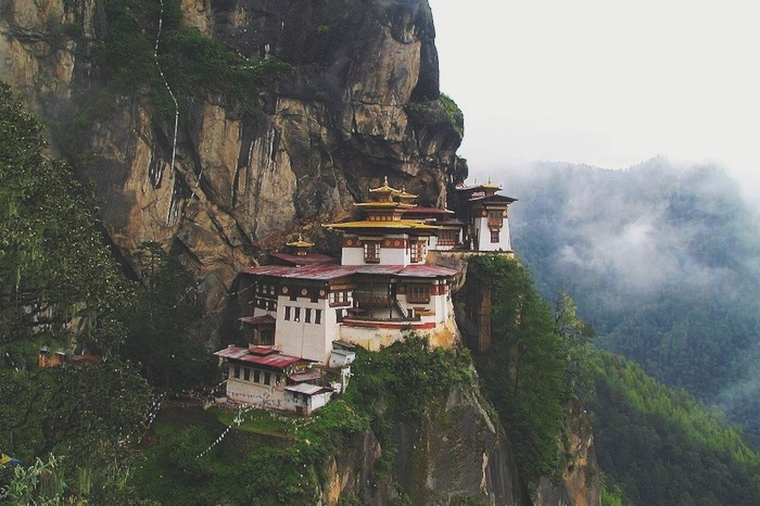 A monestry in the bucket list destination Bhutan