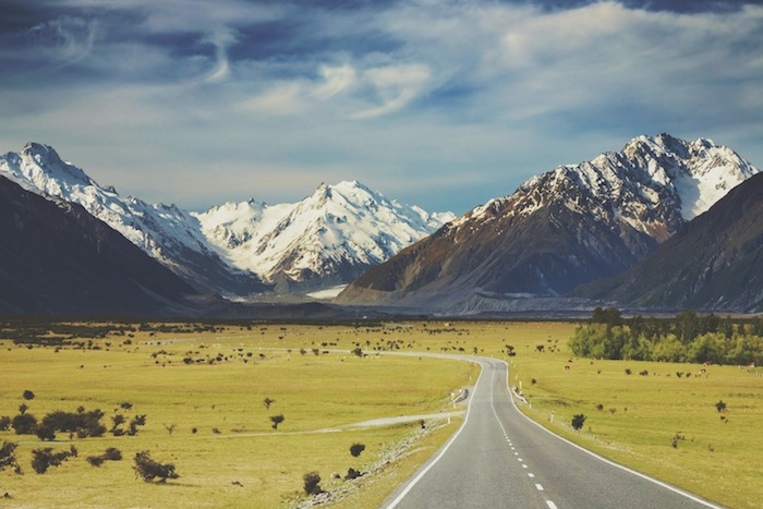 A long highway in the bucket list destination New Zealand