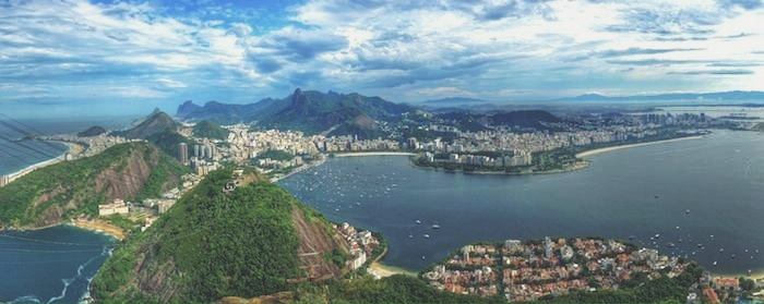 A panoramic view of the bucket list destination Brazil