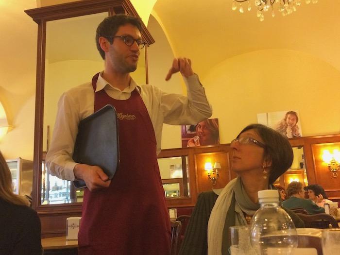 Waiter in Gelateria Pepino Gelato