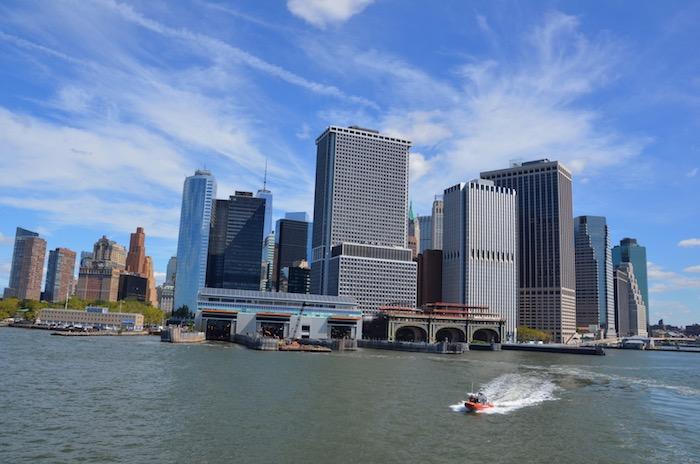 Blick von der Staten Island Ferry