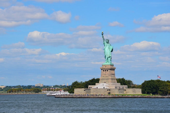Statue of Liberty von der Staten Island Ferry