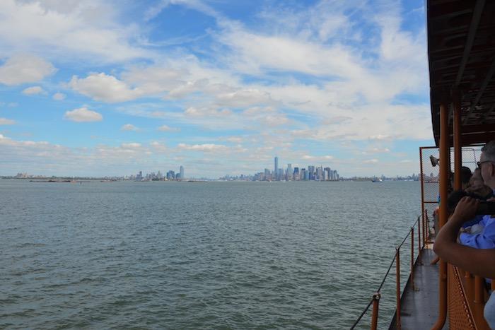 Reling der Staten Island Ferry