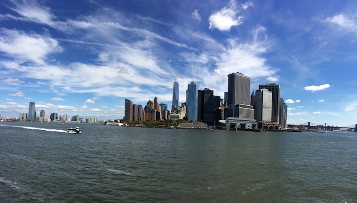 The view from Staten Island Ferry
