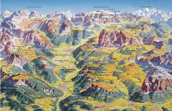 Digital Detox in Südtirol: Sommerkarte Gröden