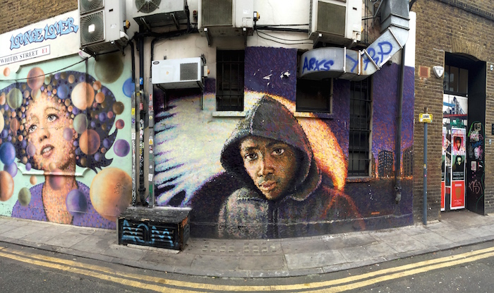 Streetart in London with a Hip Hop Style