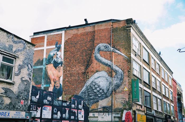 Streetart in London: Eines der bekanntesten Motive von Streetartist ROA