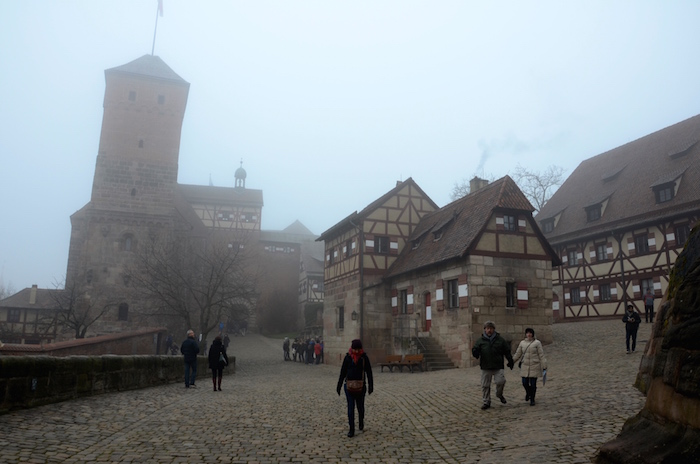 The Kaiserburg close to the Christkindlesmarkt
