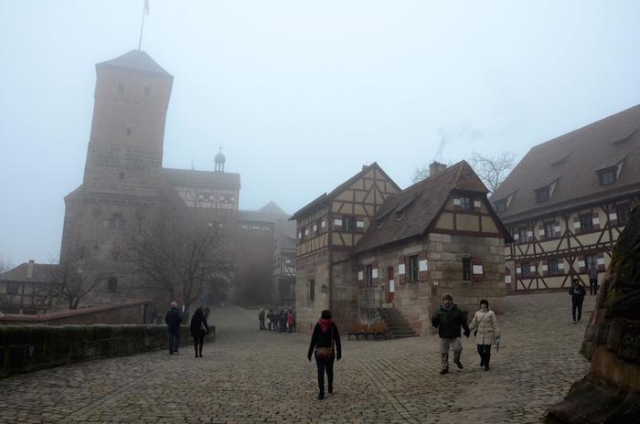 Unweit des Christkindlesmarkt in Nürnberg befindet sich die Kaierburg
