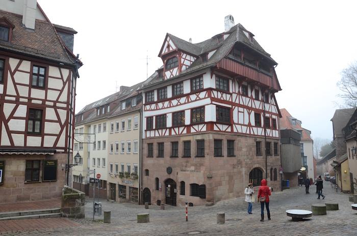 Das Albrecht Dürer Haus unweit des Christkindlesmarkt in Nurnberg