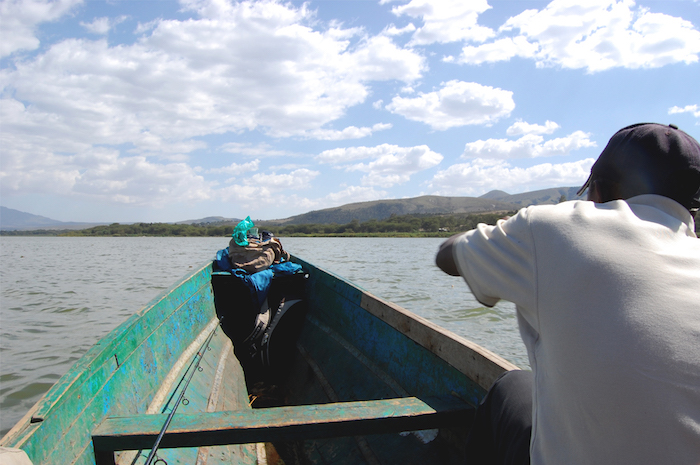 Fischer auf dem Lake Naivasha in Kenia