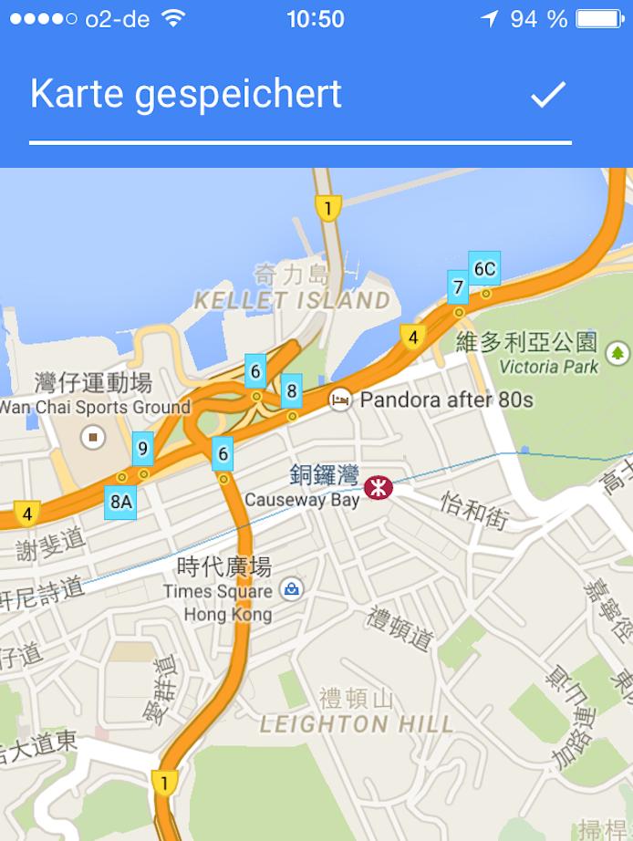 Einer der besten Reisetipps: Google Maps kann man auch offline nutzen