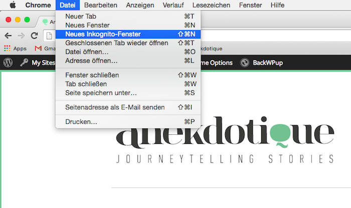 Einer der besten Reisetipps: Flugsuche in einem Incognito Fenster des Browsers