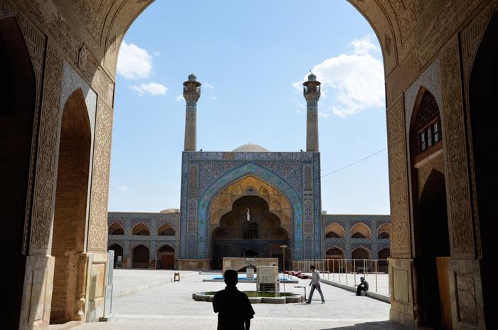 Wer ein Visum Iran hat, kann sich die Jameh Moschee in Esfahan ansehen
