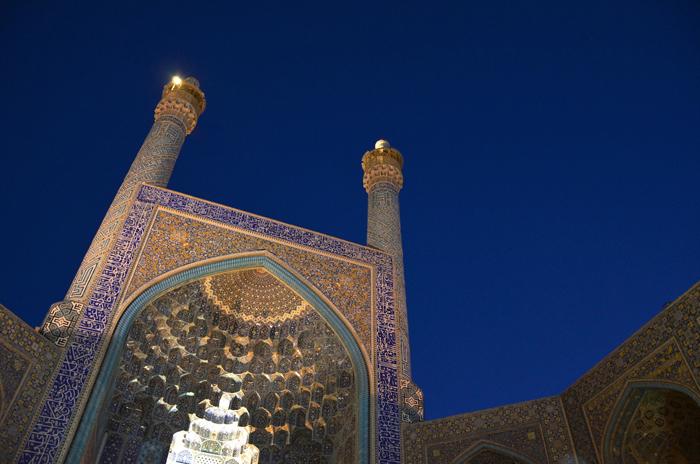 Die berühmte Palastmoschee in Esfahan, Iran