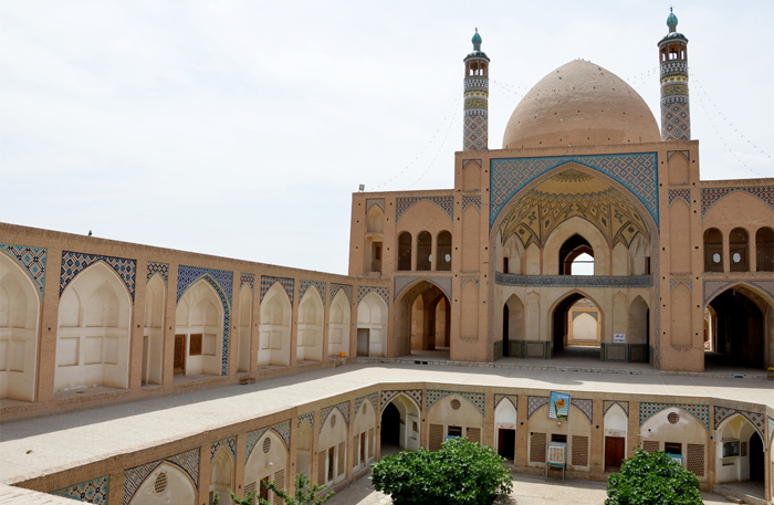 Die Moschee in Kashan, dafür braucht man das Visum Iran