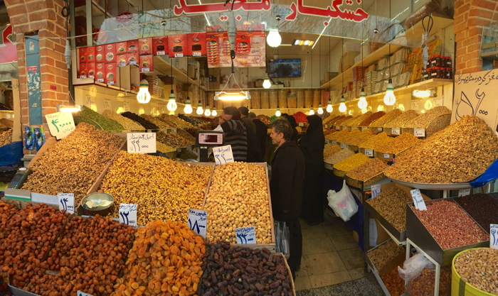 Backpacking Iran market