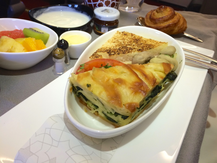 Turkish Airlines Business Class Test Meal