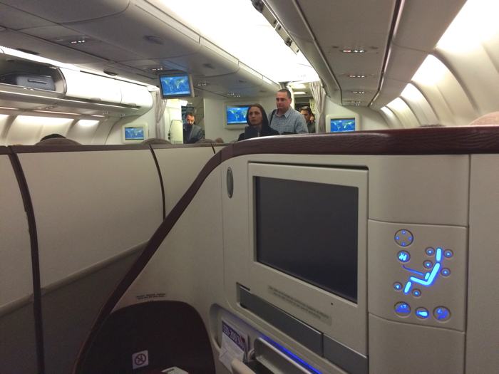Turkish Airlines Business Class Bildschirm