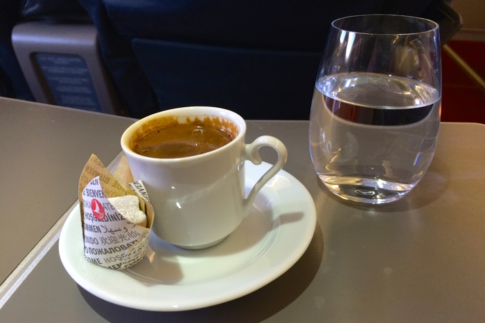 Turkish Airlines Business Class Test Coffee