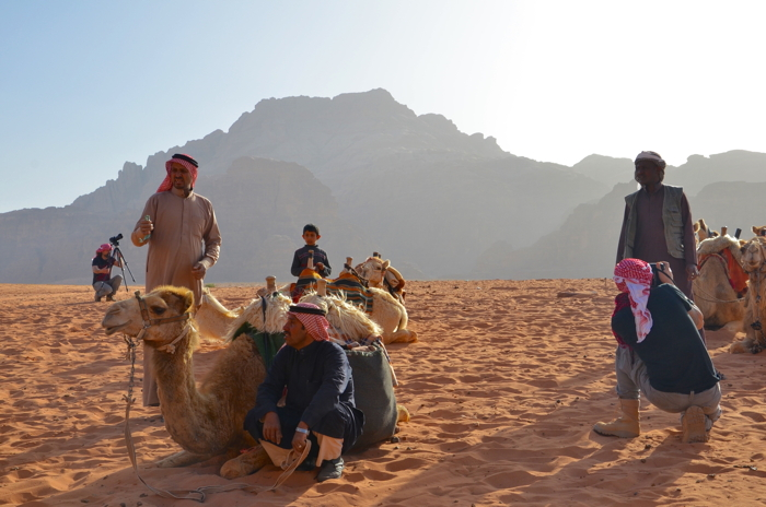 Beduinen im Wadi Rum