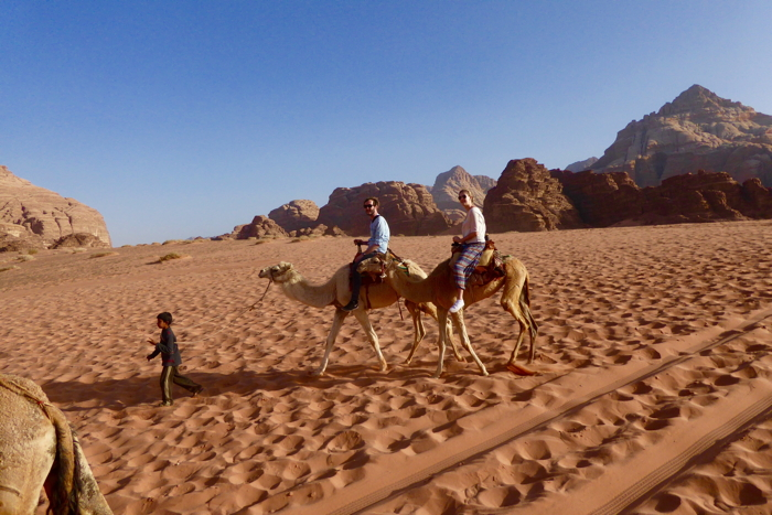 Jordan experience starts with a camel ride