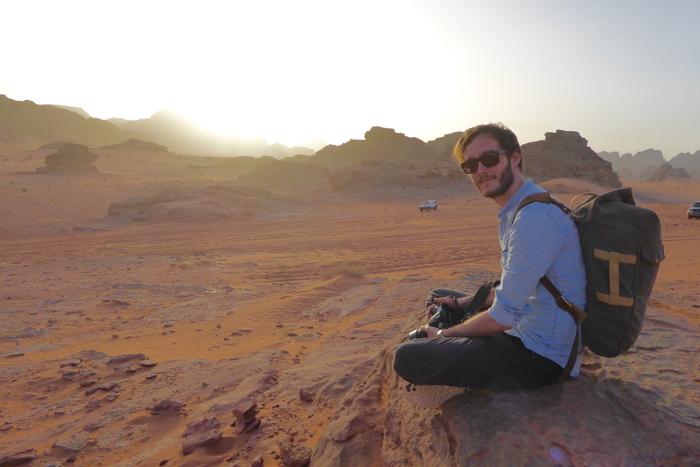 Sonnenuntergang im Wadi Rum Jordanien