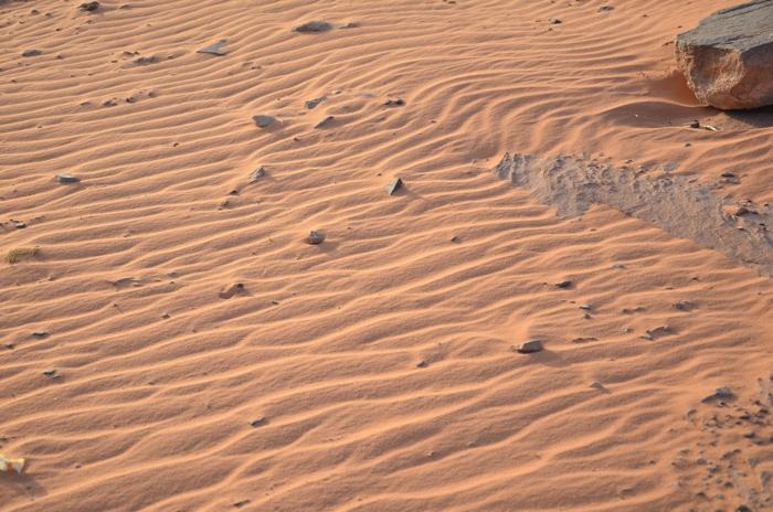 Wüste im Wadi Rum Jordanien