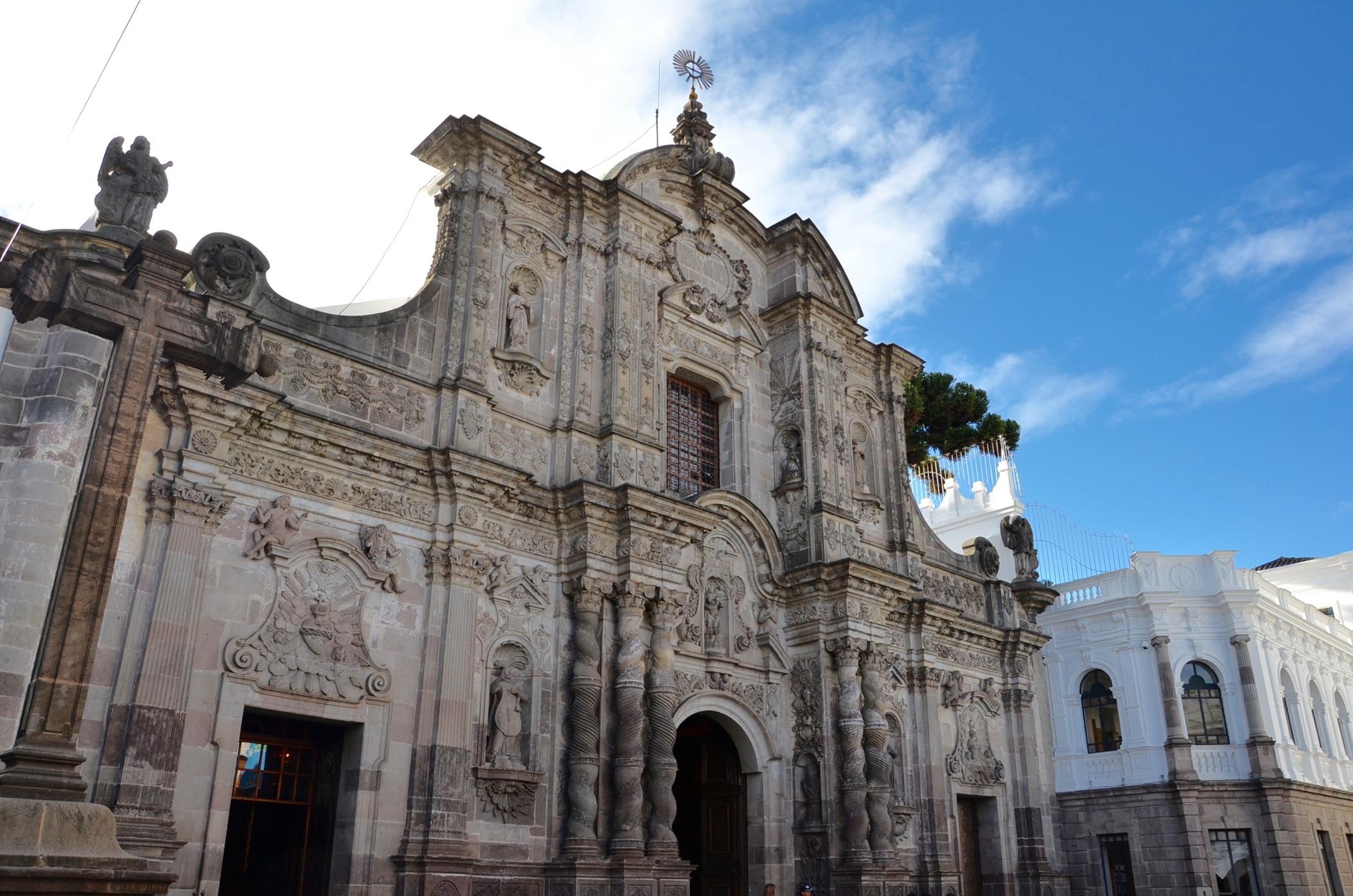 Church in Centro Historico Old Town Quito