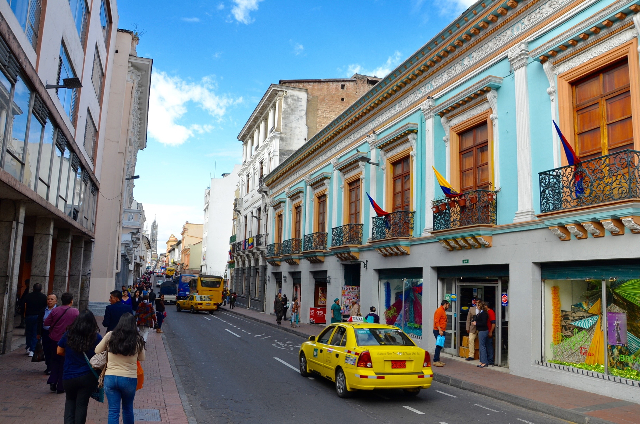 Stret in the Centro Historico, the Old Town Quito