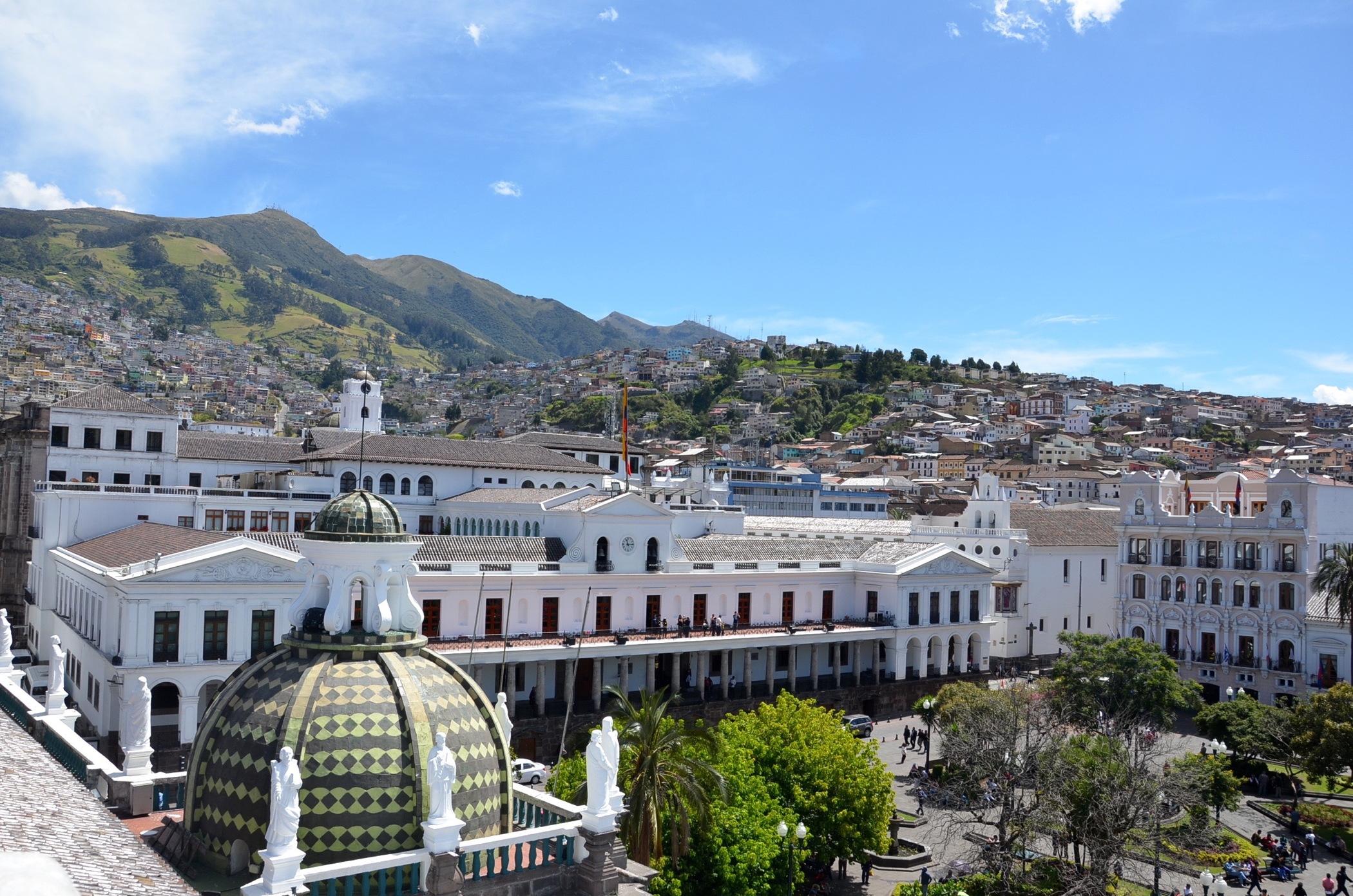 Plaza Grande in Centro Historico Old Town Quito