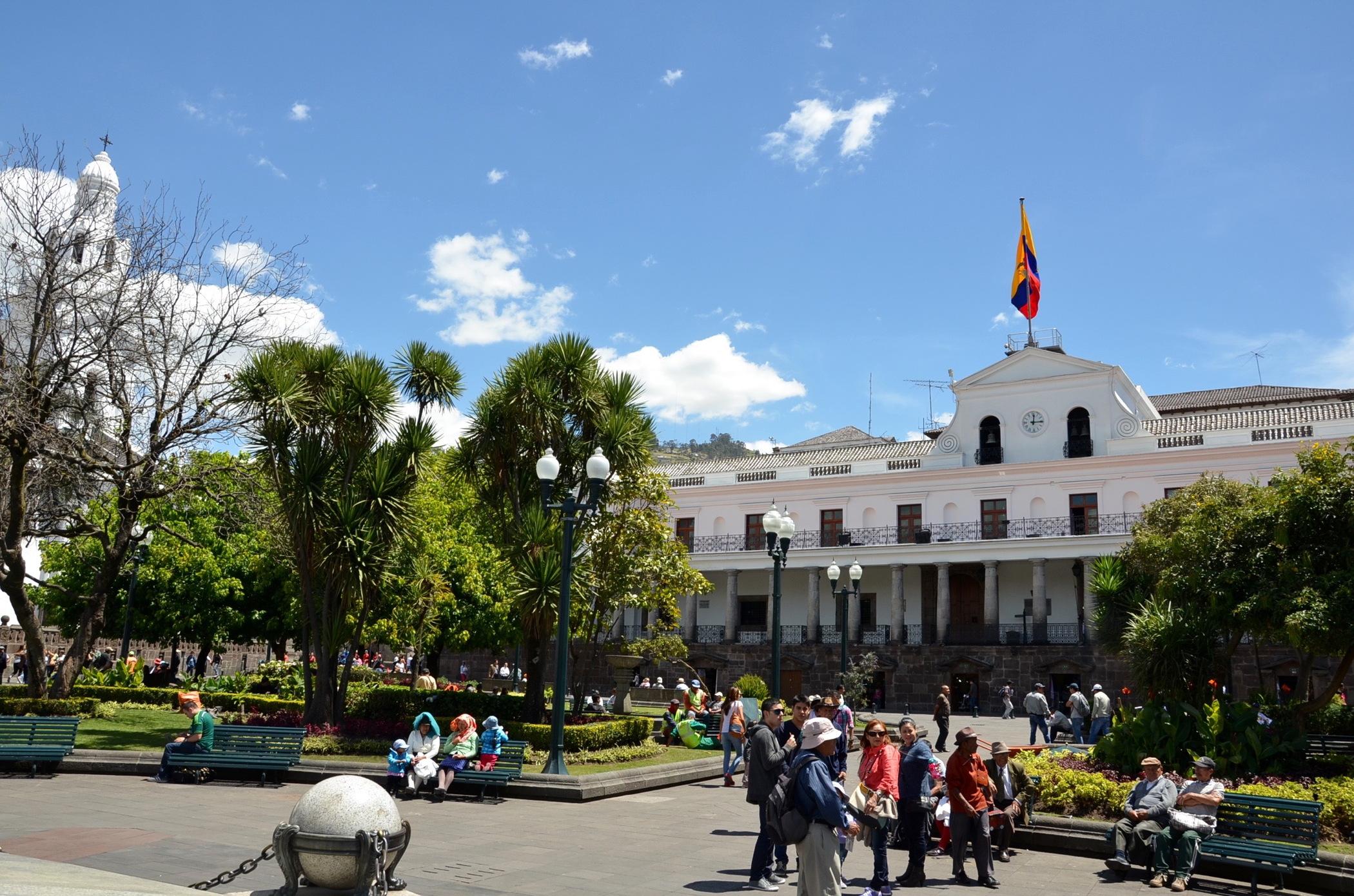 Die Altstadt von Quito in Ecuador ist eine der Unesco Welterbestätten