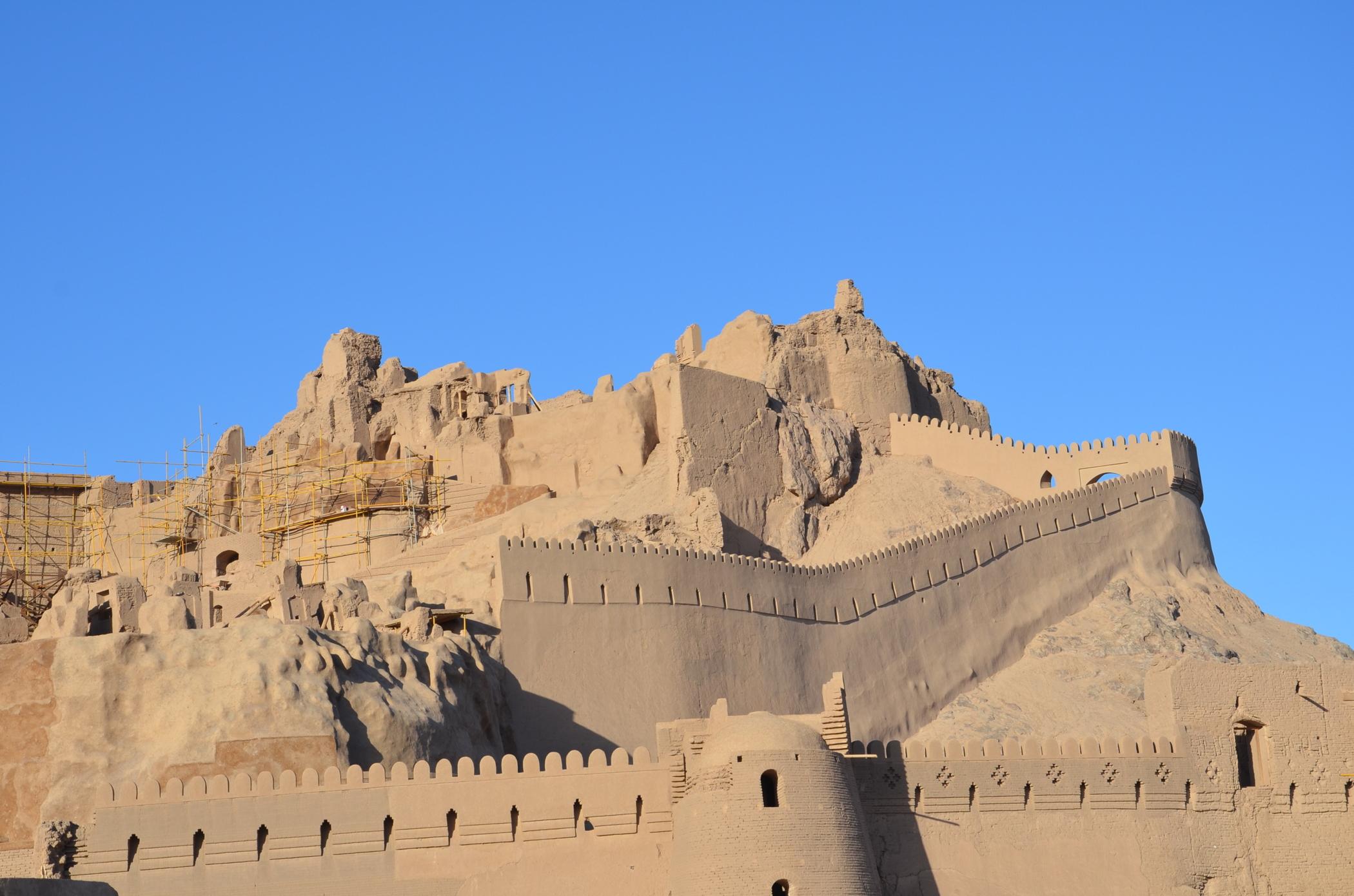 Die Zitadelle von Bam im Iran ist einer der Unesco Welterbestätten