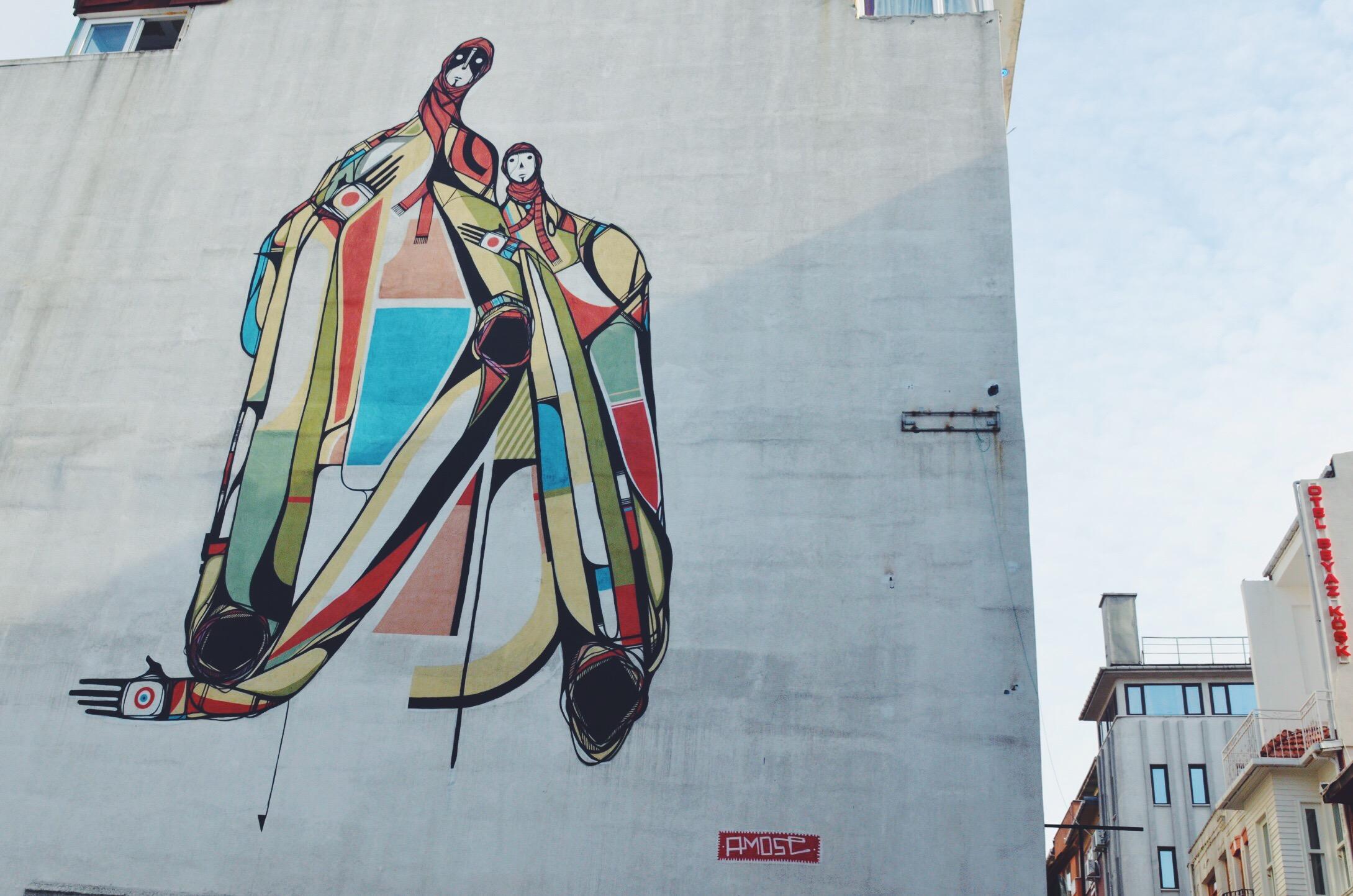 Street Art Istanbul Mural Mother