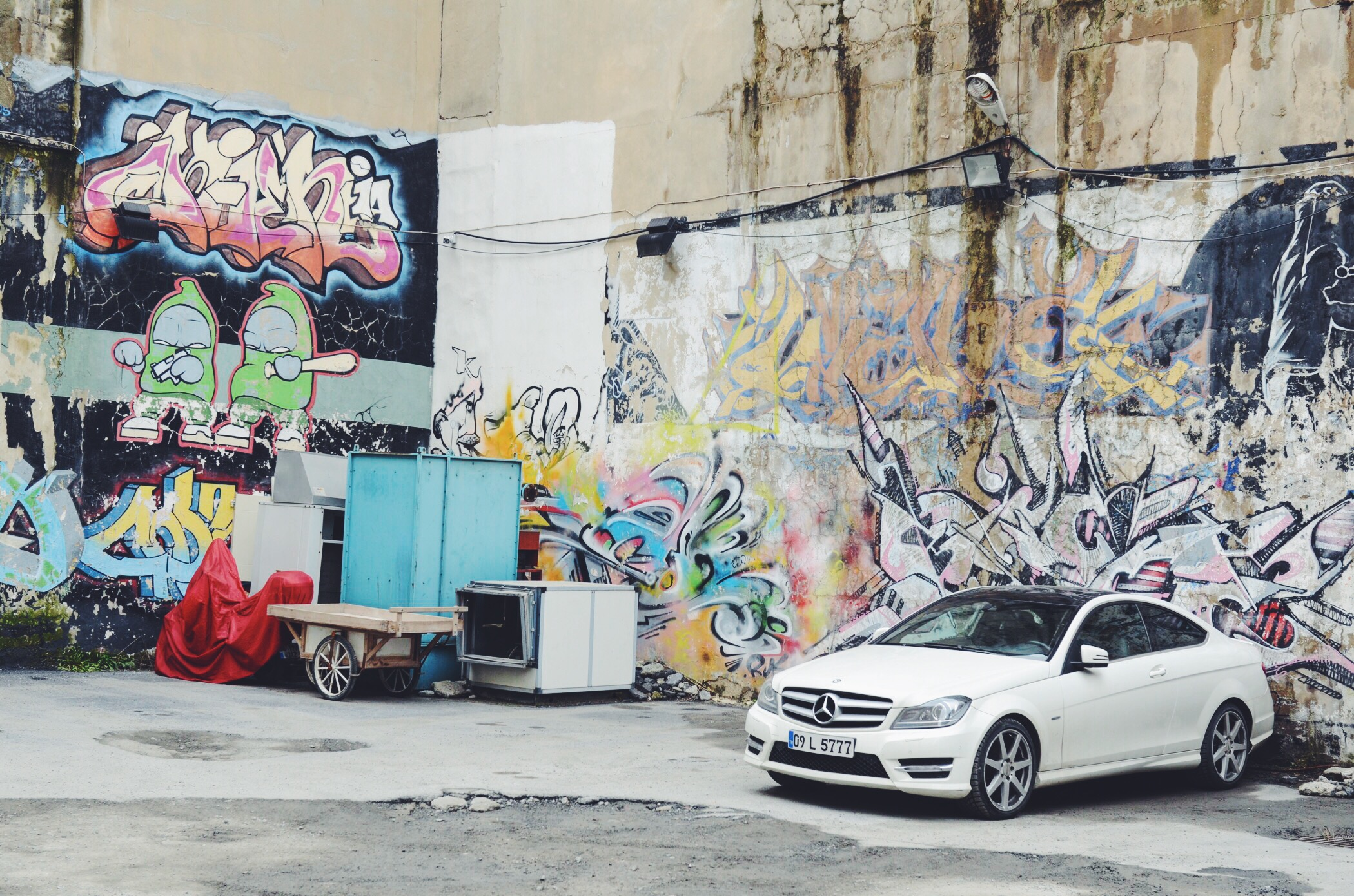 Street Art Istanbul and Mercedes