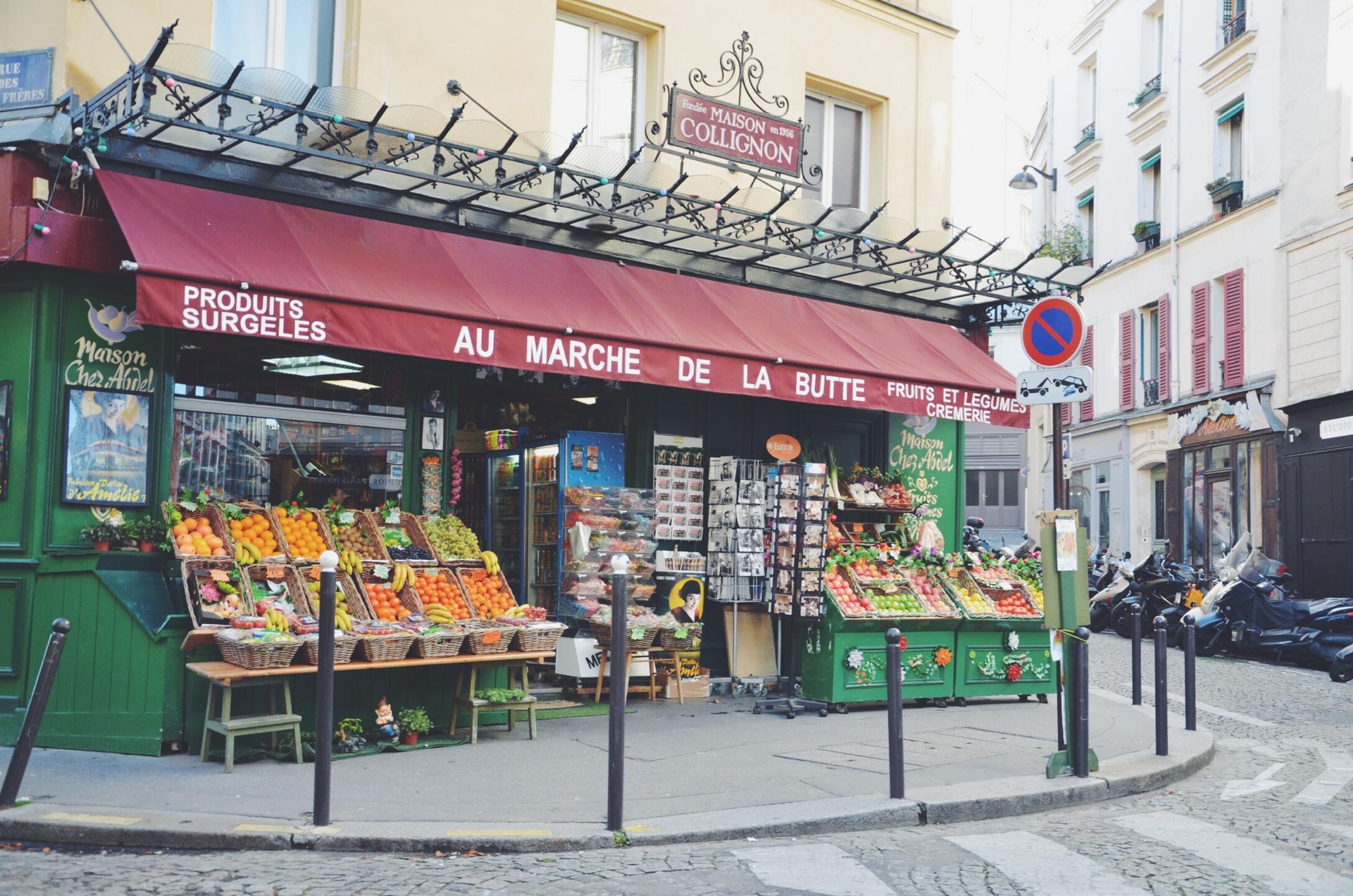 Ein Tag in Paris beim Gemüseladen von Amelie