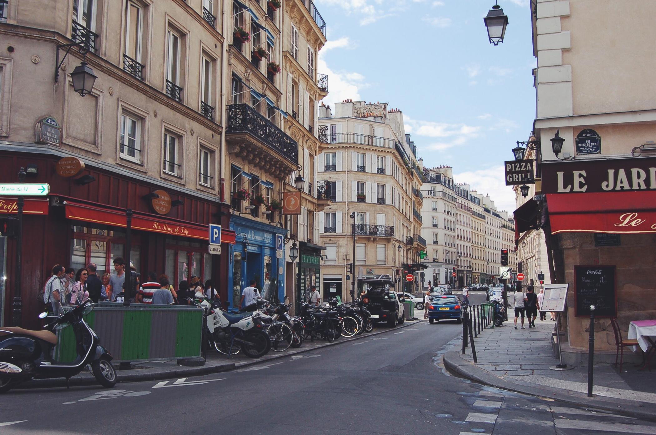Ein Tag in Paris im Marais