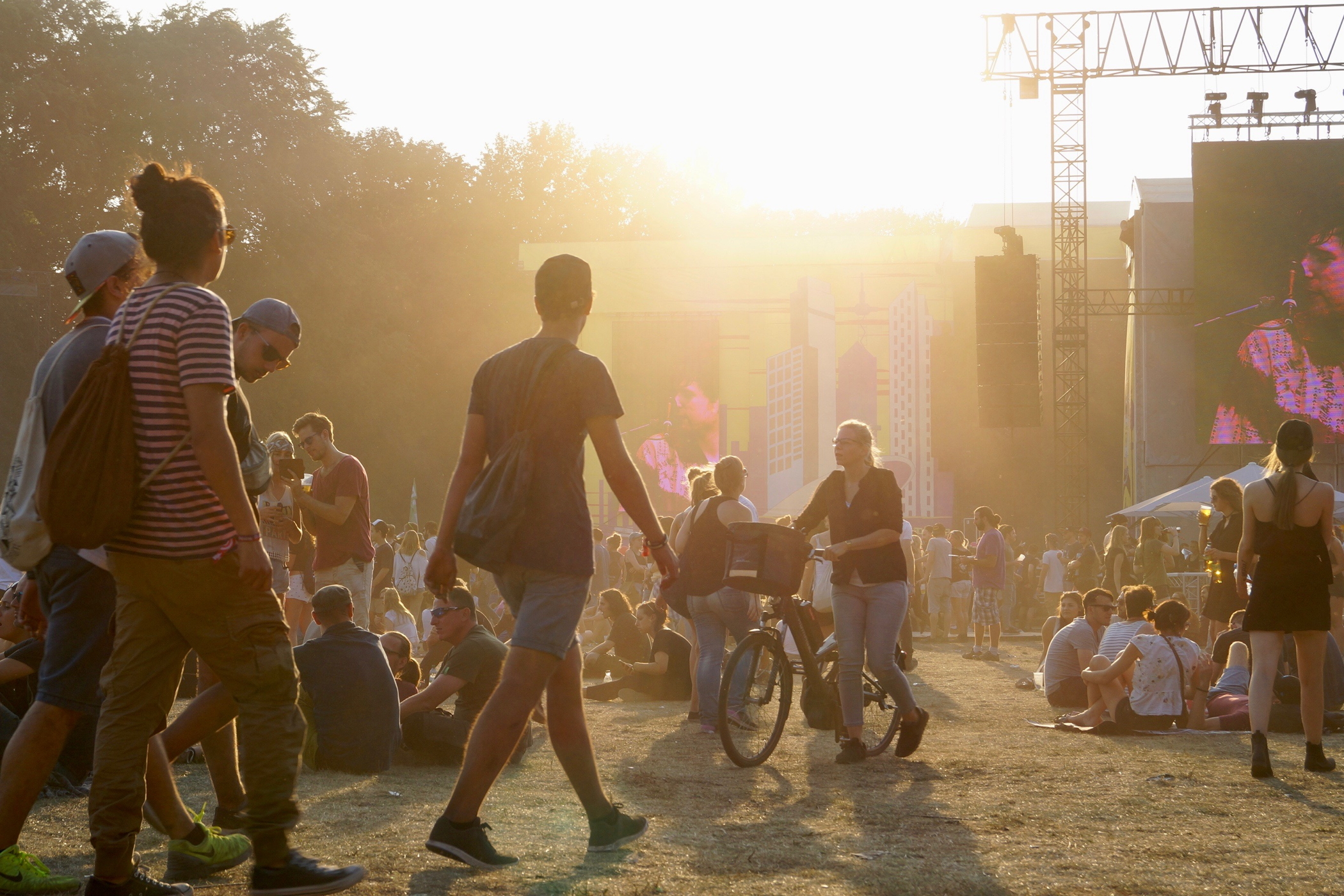 Lollapalooza Berlin beim Sonnenuntergang