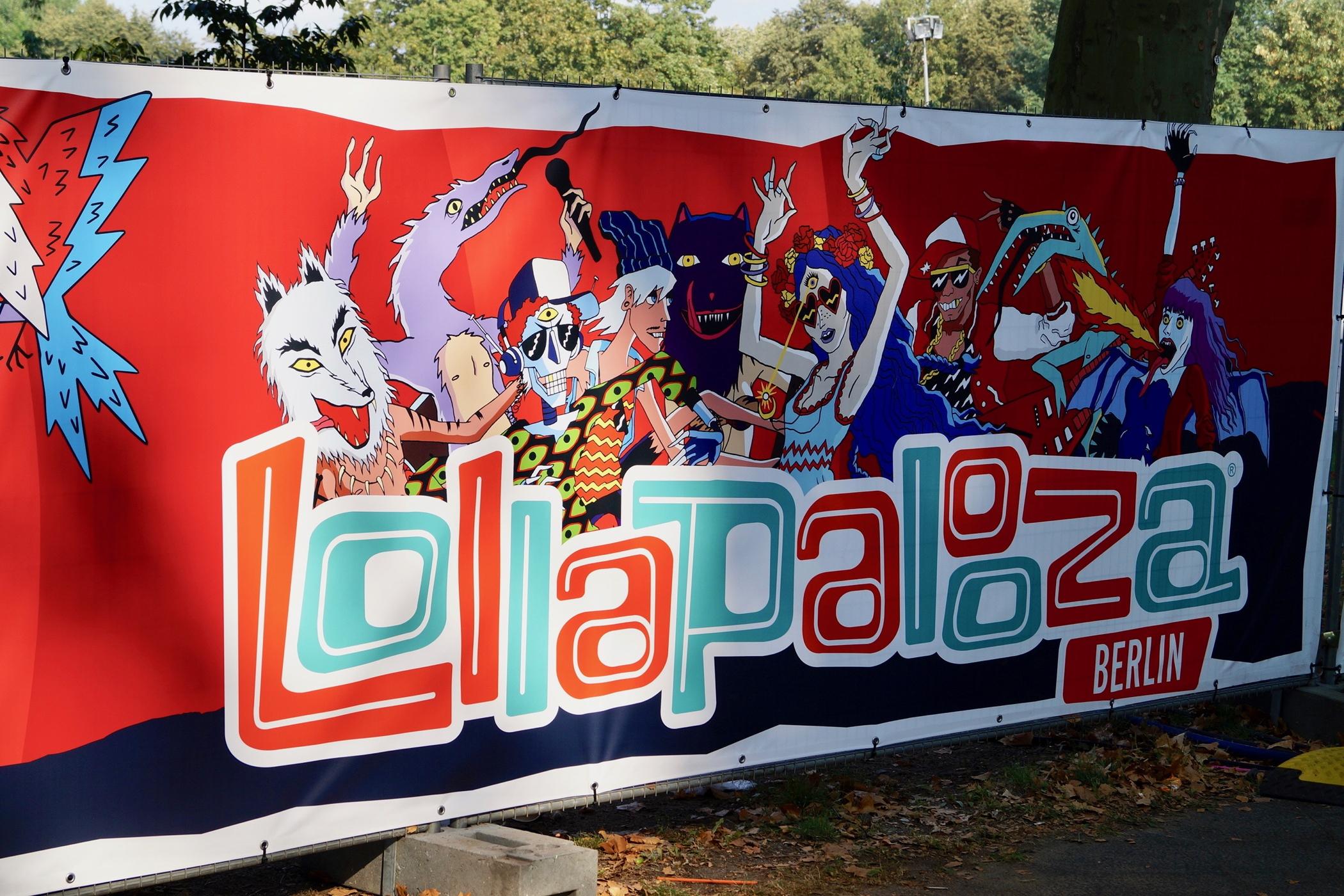 Werbung für das Lollapalooza Berlin