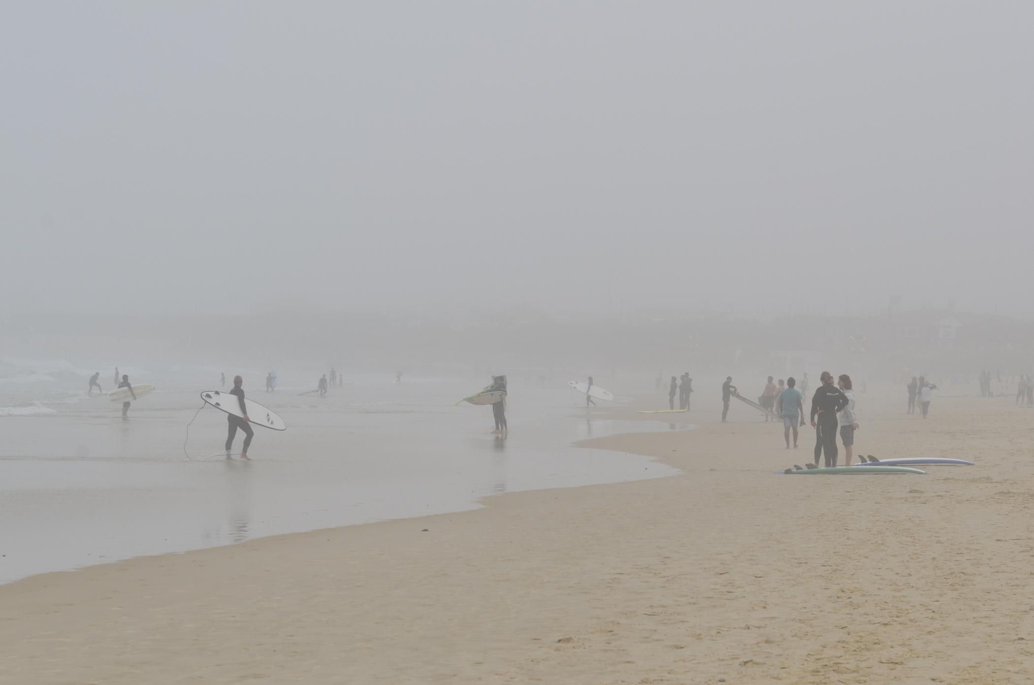 Surfguiding Peniche im Nebel