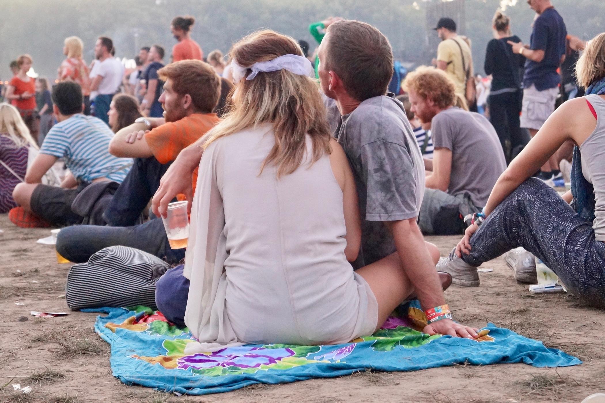 Besucher auf dem Sziget Festival Budapest
