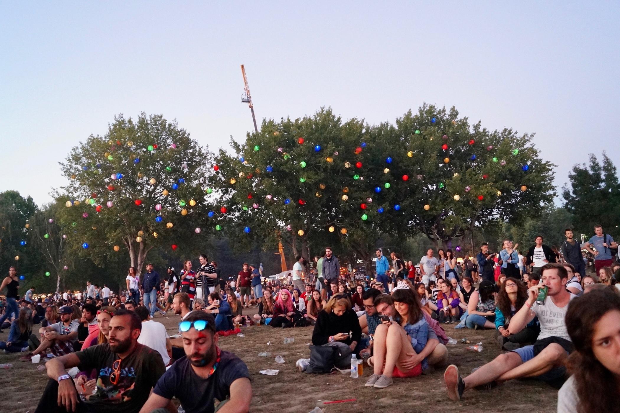Lampions auf dem sziget festival budapest
